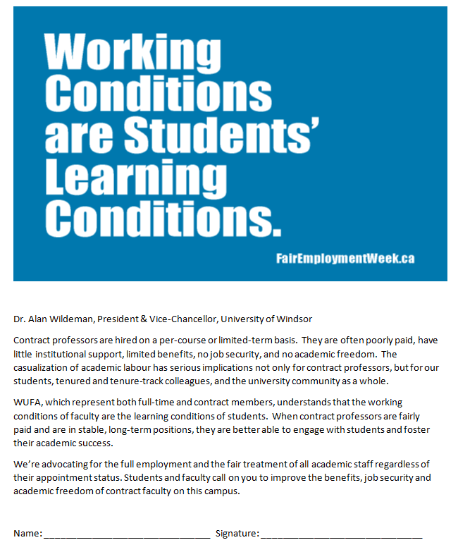 Working Conditions are students' learning conditions