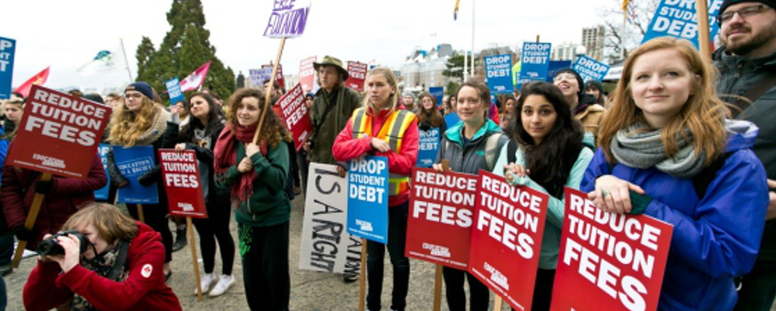 Hundreds rally against student debt, call for elimination of tuition fees  Banner Image
