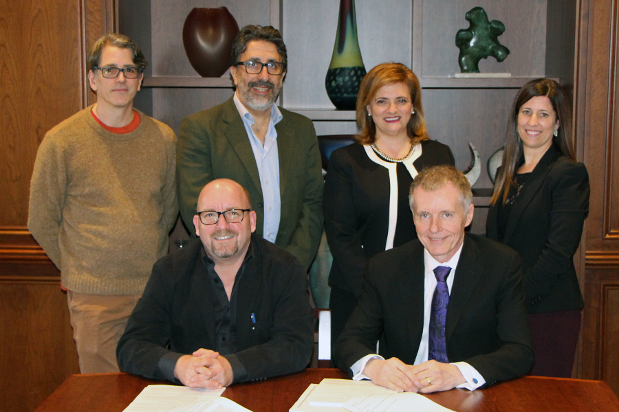 Official Signing of Collective Agreement  Banner Image