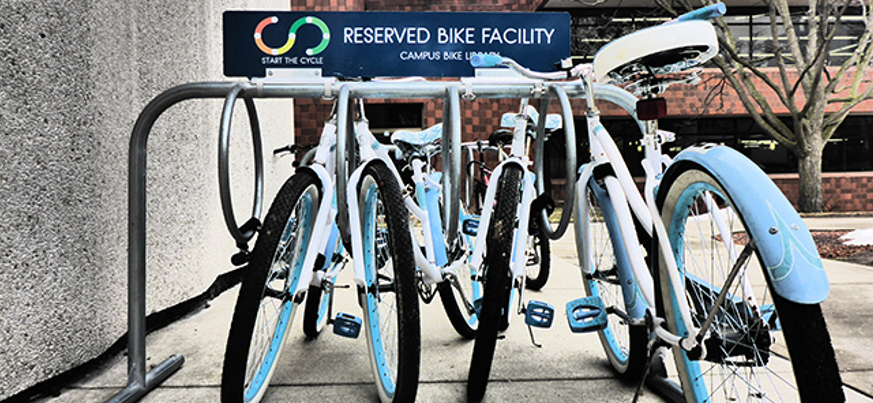 Free bikes on loan at McMaster University library  Banner Image