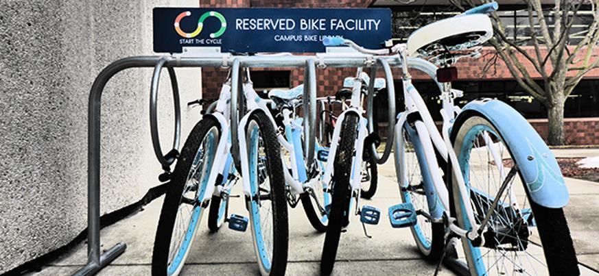 Free bikes on loan at McMaster University library  Thumbnail Image