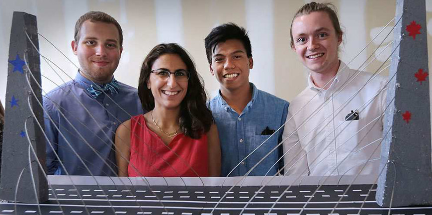 University of Windsor engineering students build bridges to the future  Thumbnail Image