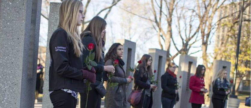 Vigil at University of Windsor marks Montreal Massacre  Banner Image